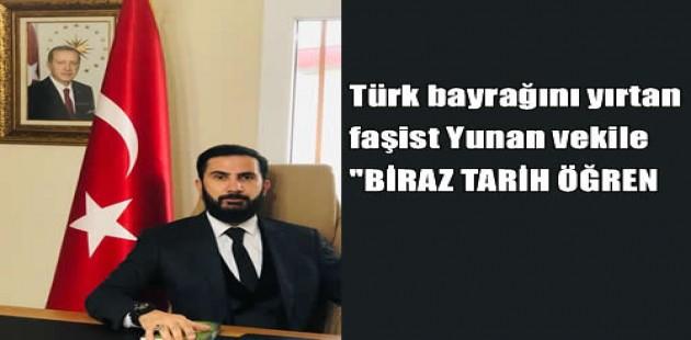 """İZOL'den Türk bayrağını yırtan faşist Yunan vekile """"BİRAZ TARİH ÖĞREN"""""""